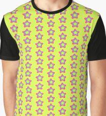 Bright Golden Rainbow Star Graphic T-Shirt