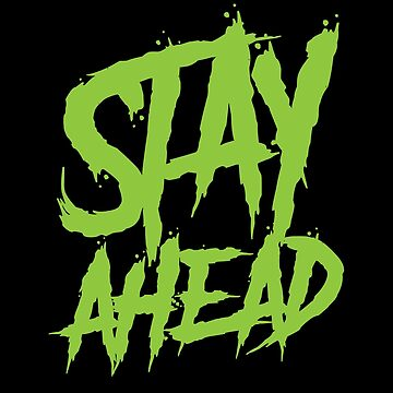 Stay Ahead Neon Green  by handcraftline