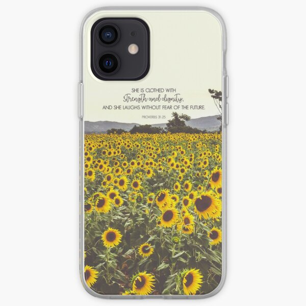 Proverbs and Sunflowers iPhone Soft Case