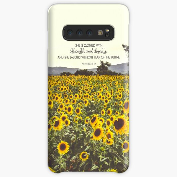 Proverbs and Sunflowers Samsung Galaxy Snap Case