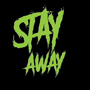 Stay away wall paint neon green by handcraftline