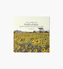 Proverbs and Sunflowers Art Board Print