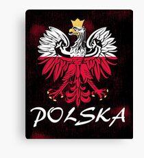 Polska coat of arms animal eagle Canvas Print