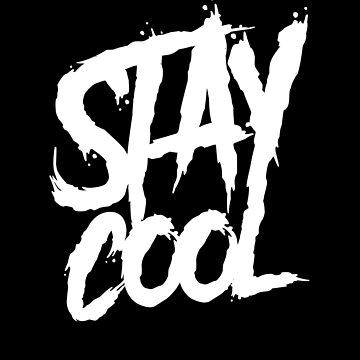 Stay cool graffiti wall paint by handcraftline