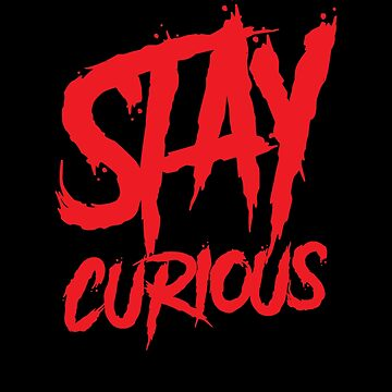 Stay curious graffiti red wall paint by handcraftline