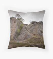 Dinas Rock mountaineering Pontneddfechan Throw Pillow