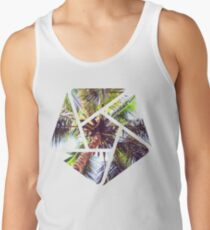 Palm Tree Geometric Summer Design Tank Top