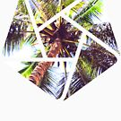 Palm Tree Geometric Summer Design by Denis Marsili