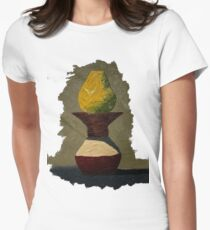 Still Life: Pear and Vase Women's Fitted T-Shirt