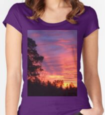 Sunset in South Carolina Women's Fitted Scoop T-Shirt