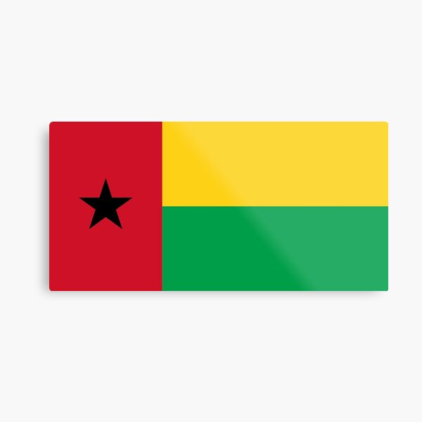 Guinea-Bissau Flag- Show your love for Guinea-Bissau! Metal Print