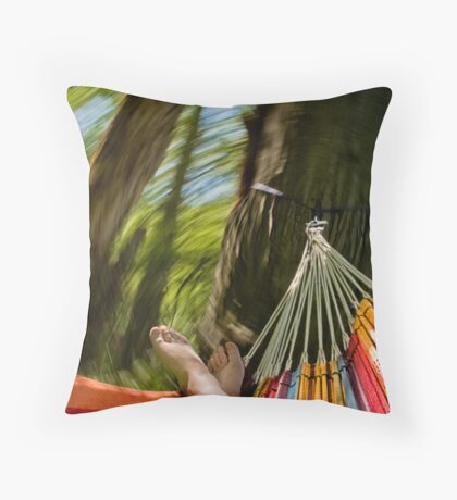 Color Whirl Throw Pillow