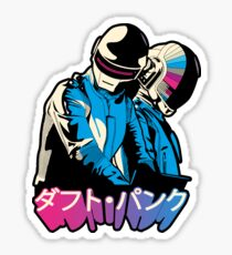 Daft French Electro Duo, Japanese Name Sticker