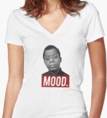 JAMES BALDWIN   MOOD Women's Fitted V-Neck T-Shirt