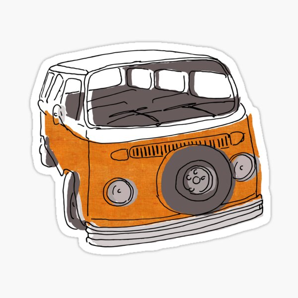 Very orange combi Sticker