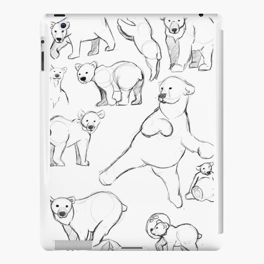 sketchy polar bear iPad-Hüllen & Klebefolien