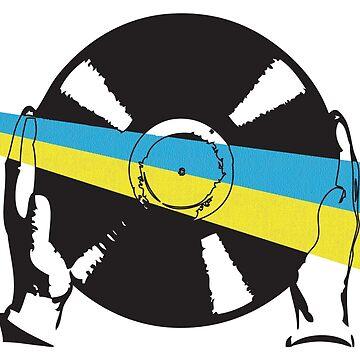 Ukrainian Flag Vinyl by McFrys
