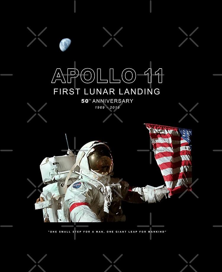 """FIRST LUNAR LANDING OF MANKIND 1969 PATCH 4/"""" NASA ASTRONAUT SPACEFLIGHT MOON USA"""