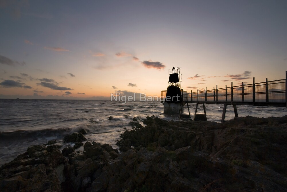 Portishead Lighthouse  by Nigel Bangert