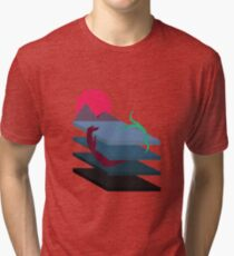 Abstract Sea Monster Tentacles  Tri-blend T-Shirt