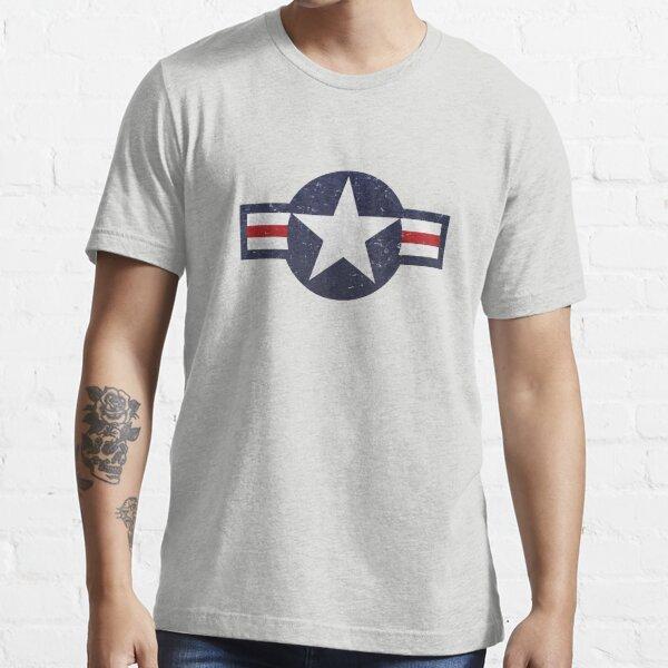 U.S. Military Aviation Star National Roundel Insignia Essential T-Shirt