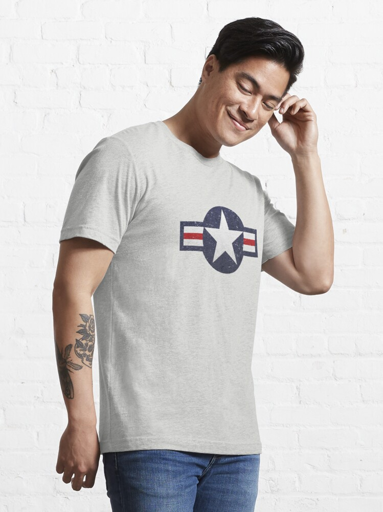 Alternate view of U.S. Military Aviation Star National Roundel Insignia Essential T-Shirt