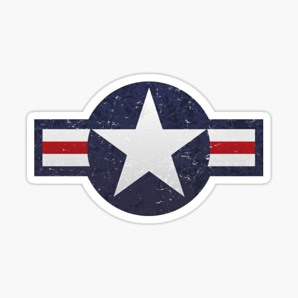 U.S. Military Aviation Star National Roundel Insignia Sticker