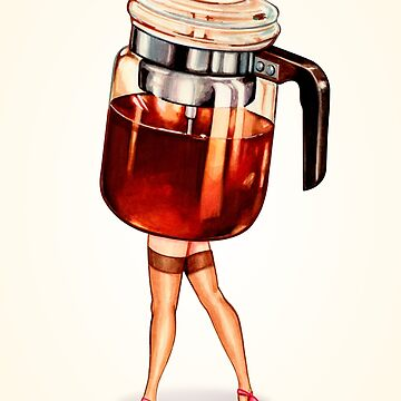 Coffee Pot Pin-Up by KellyGilleran