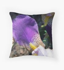 Iris Petal Throw Pillow