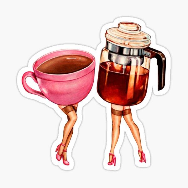 Coffee Girl Pin-Ups Sticker