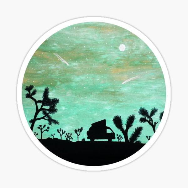 Van Life Joshua Arbres Horloge Sticker