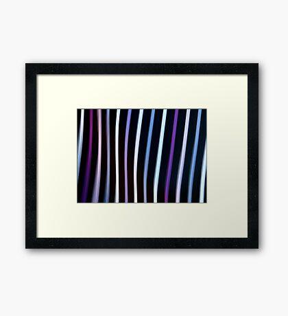 Stripes in Motion #1 Framed Print