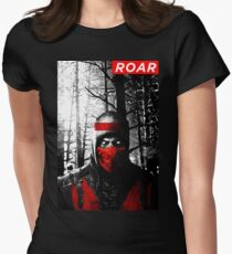 Roar Injustice Womens Fitted T-Shirt