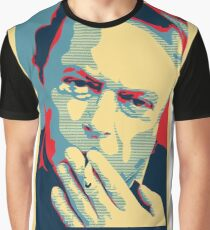 Christopher Hitchens Obama Style Poster Graphic T-Shirt