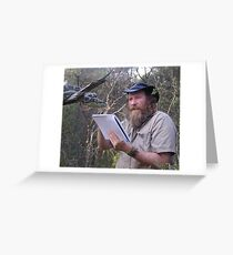 Snake Artist at work 2 Greeting Card