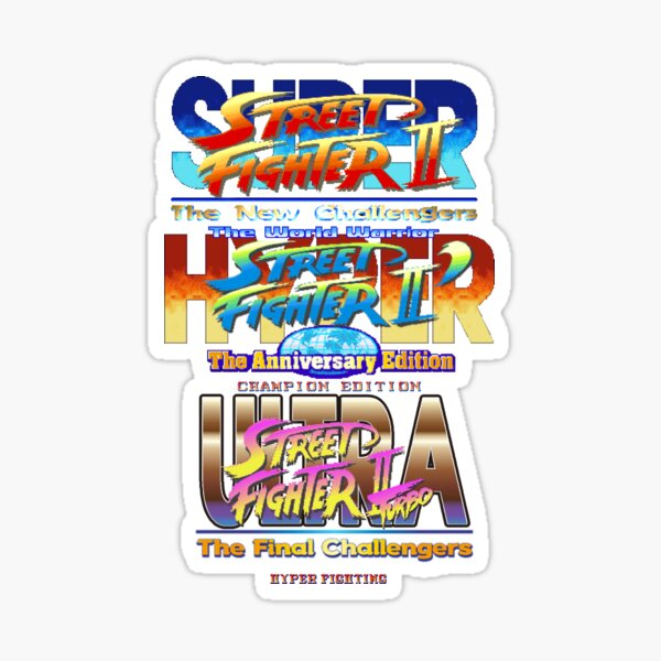 Street Fighter 2 Stickers Redbubble