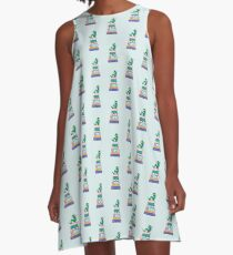Boy Book Worm Book Nerd A-Line Dress
