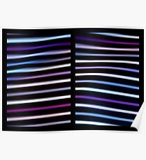 Stripes in Motion - Diptych Poster