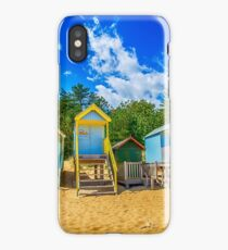 Coloured Beach Huts iPhone Case/Skin