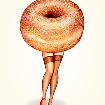 Donut Pin-Up by KellyGilleran