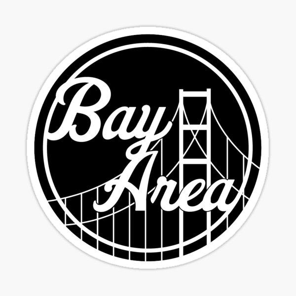 Black Bay Area Sticker Sticker