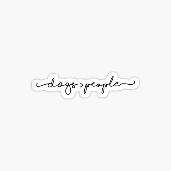 dogs over people  Sticker