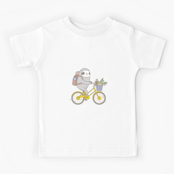 Biking Sloth  Kids T-Shirt