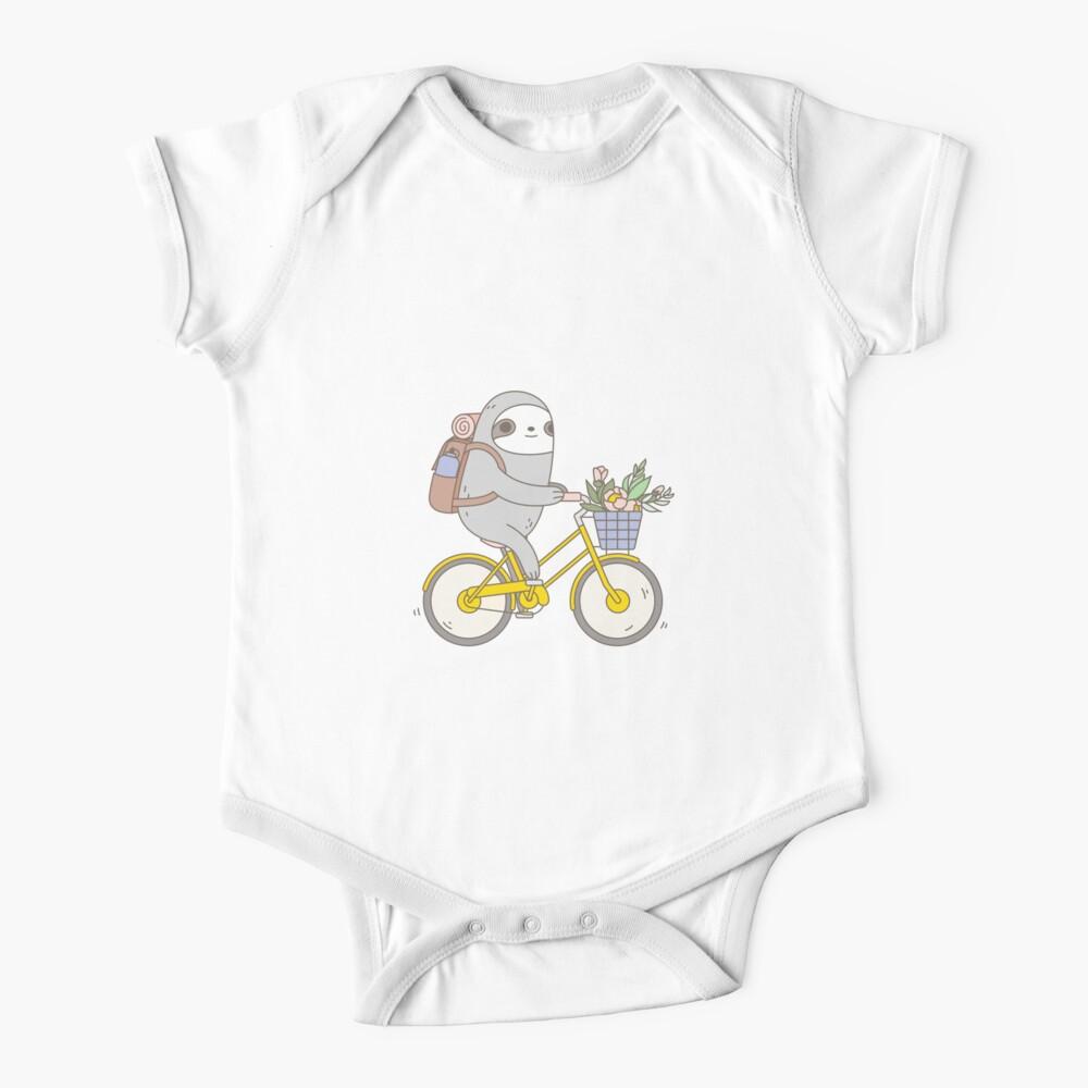 Biking Sloth  Baby One-Piece