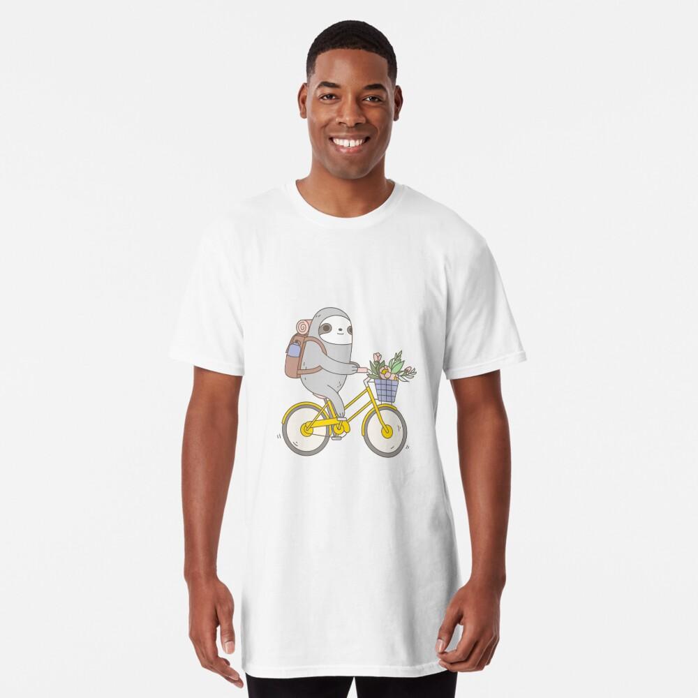 Biking Sloth  Long T-Shirt