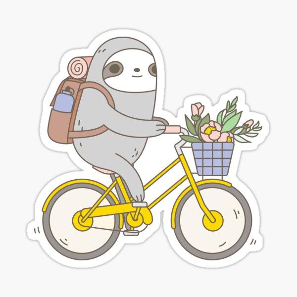Biking Sloth  Sticker
