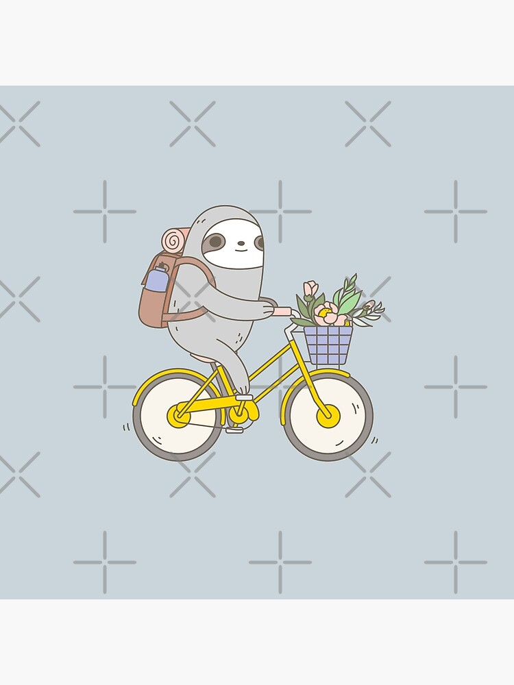 Biking Sloth  by Miri-Noristudio