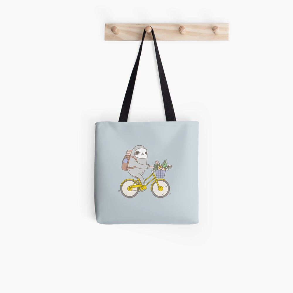 Biking Sloth  Tote Bag