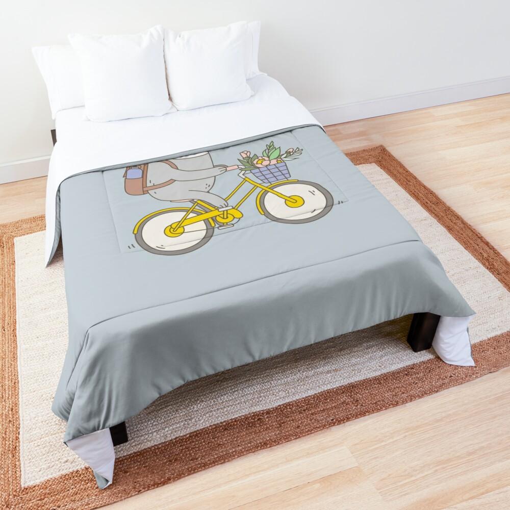 Biking Sloth  Comforter