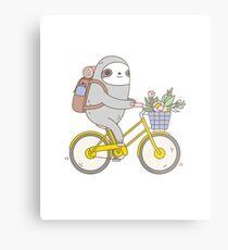 Biking Sloth  Metal Print